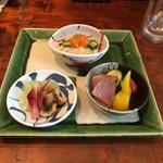 志蕎庵 江月 - 旬の三種盛り