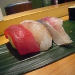 なるかわ - 料理写真:鮪、鯛、〆鯖