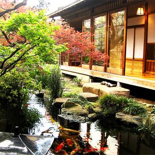 日本庭園付き離れのお席