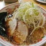 五百川食堂 - こってり醤油ネギラーメン。