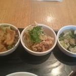 和カフェ yusoshi - 小鉢の3種