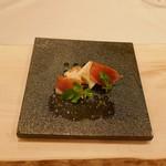 68481225 - 春野菜と佐助豚の生ハム 山葵のアクセント
