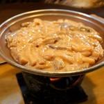 福よし - イカわた陶板焼き