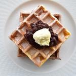 オリーブオイルとソフトクリームのお店 EVERYDAY OLIVE - あんこワッフル・M(オリーブオイル&発酵バタースプレッド付)