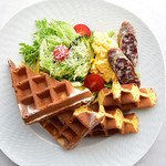 オリーブオイルとソフトクリームのお店 EVERYDAY OLIVE - お食事ワッフル※サラダ・卵料理・ベーコンに変更(6月21日start)