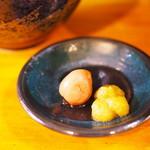 麺屋 Rock - 冷製おろしつけ麺に付属の薬味
