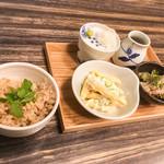 銀座 彩心 - ご飯、サラダ、小鉢