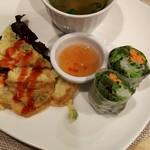 Ajiankicchimpukakafe - プレートランチの前菜