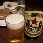 石庫門 - ビールは赤星