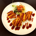 コビアン - チキンカツ定食390円