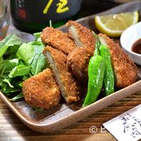 しぞ~かおでん お茶の間 - 身だけでなく魚の全てを丸ごとすり身にした、静岡県・中部の名産品『黒はんぺんフライ』