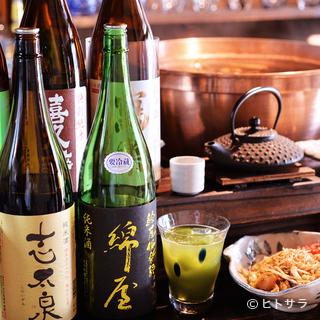 静岡・福島両県の地酒が中心。珍しい銘柄も飲み比べできる日本酒