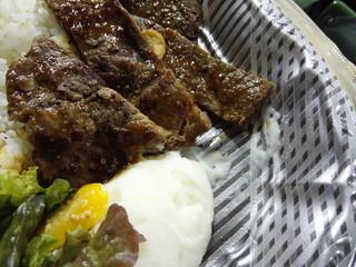 宮木牧場 - ステーキとマッシュドポテト@メヒアのパワープレート