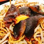 天龍 - 元祖なお店に比べると量もなかなかのもので麺ともやしの比率同じくらい無い?
