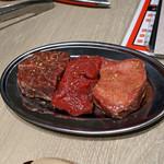 はやみ - 肉厚シリーズ3種盛り タンモト、ヒレ、ハラミ