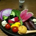 地きんめ鯛専門 銀座 はなたれ - 湘南野菜の盛り合わせ