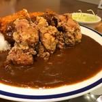 キッチン南海 - 料理写真:ロースカツカレー やみつき唐揚げトッピング