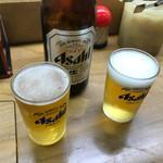 立喰い寿司 七幸 - とりあえず瓶ビールでしょ?