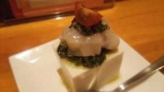 Nomka - ホタテと豆腐のわけぎソース合え