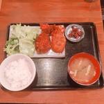 熊本居酒屋 新市街 - MIXフライ定食(930円)【平成29年6月13日撮影】