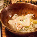 青家 - 肉は少ないけどしみじみ美味いです。
