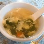 吃八坊 - 卵ワカメスープ