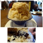 倉式珈琲店 - ◆主人は「かき氷・アイスウインナー(680円:外税)」を。 シロップは珈琲風味、中にコーヒーゼリーも入り美味しいそうな。