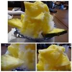 倉式珈琲店 - ◆私は「フレッシュパイナップルかき氷(780円:外税)」を。パイナップル好きなのです。^^ シロップのパイン風味が薄いので、もう少しかけていただきたいような。 パイナップル自体は美味しかったですよ。