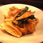 Kankokuanjupontochourinanha - ニラと白菜のサラダ