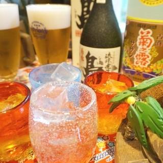 『名物!奇跡の飲み放題』店内のお酒全てOK、250種以上!!