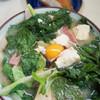 だるまそば - 料理写真:味噌汁(フーチバー・卵入り)