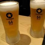 大衆亜細亜酒場 64餃子 - 黒ラベルの生