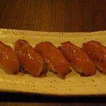 萬年青 - べっこう寿司 / 青唐醤油の漬寿司