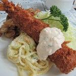 キッチン南海 - 海老フライのアップ
