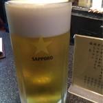 かしら屋 - 生ビールからスタート
