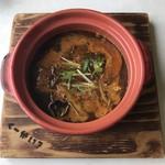 スープカレー&カフェ くーかい?レトロ - 料理写真:チキン無しスープカレー800円、辛さ佐々木さんプラス250円です。