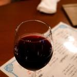 ローストビーフ食べ放題 肉バル Lupin - 飲み放題メニューの赤ワイン。