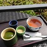 茶寮 八翠 - 翡翠もち