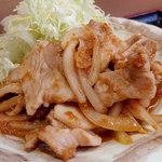 あさひ - 肉生姜定食(650円)