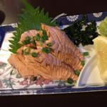 居酒屋 中西 - 炙りサーモン