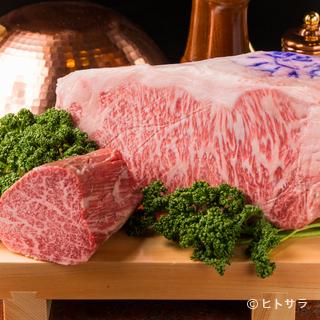 特別な日のディナーに相応しい、最高級神戸ビーフ