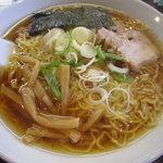 麺道楽紋次郎 - 中華そば(細ちぢれ麺)