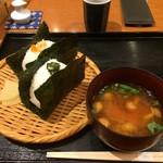 おひつ膳 田んぼ - 鮭いくらと野沢菜