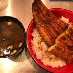 うなどん丼 - Wうな丼980円+赤出汁100円