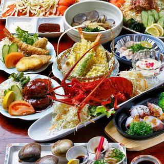 ご宴会に本格的か海鮮料理のコースをご用意