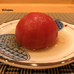 千載一遇 - 湯剥きトマトの出汁含め煮