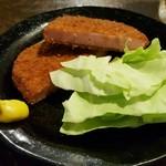 立呑みパラダイス - ハムカツ 390円