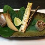 ふじ木 - 筍とカマスの焼き物