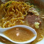 大島 - 麺、スープアップ