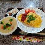 お好み焼 お食事処 みやこ - 日替わりランチ(700円)2017年6月